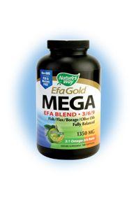 EFA Gold - MEGA EFA 3/6/9 Omega Blend (180 softgels) Nature's Way