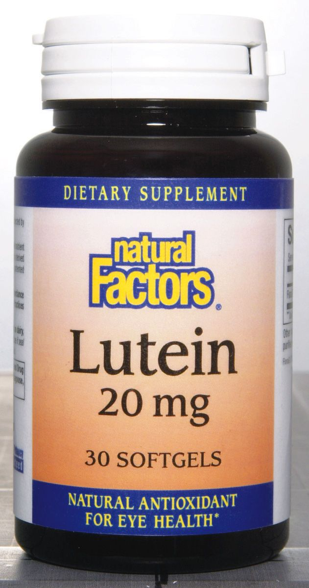 Lutein 20mg (30 soft gel)* Natural Factors