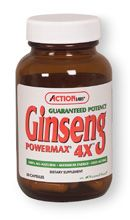 Ginseng Powermax 4X (100 caps) Action Labs
