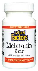 Melatonin 3mg (90 Tabs)* Natural Factors