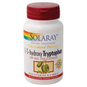 L-5-hydroxy Tryptophan 100 mg Solaray Vitamins