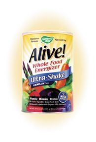 Alive! Whole Food Energizer Ultra Shake Vanilla Flavor (2.2 lb) Nature's Way