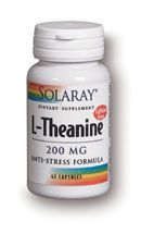 L-Theanine 200 mg (45 Vcaps) Solaray Vitamins
