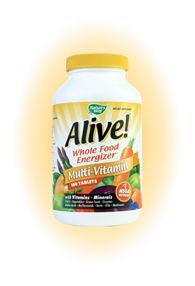 Alive! Whole Food Multi with Iron (180 Tabs) Nature's Way