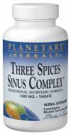 Three Spices Sinus Complex (90 Tabs) Planetary Herbals