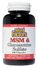 MSM & Glucosamine (180 Caps)* Natural Factors