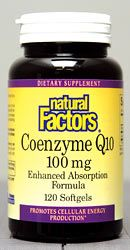 Coenzyme Q10 100mg (120 Softgels)* Natural Factors