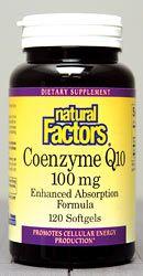 Coenzyme Q10 100mg (120 Softgels)* Natural Factors