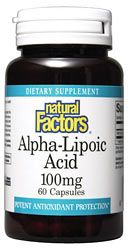 Alpha Lipoic Acid 100mg (60 caps)* Natural Factors