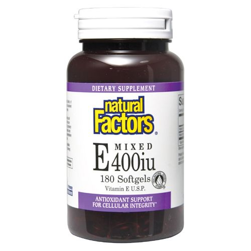 400 iu Vitamin E (240 softgels)* Natural Factors