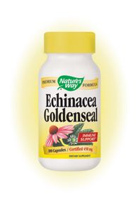 Echinacea with Goldenseal Root (100 caps) Nature's Way