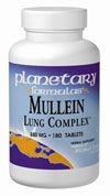 Mullein Lung Complex (90 tabs) Planetary Herbals
