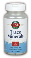 Trace Minerals (30 tabs) KAL