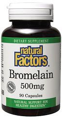 Bromelain 500mg (90 Caps)* Natural Factors