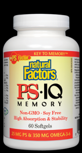PS IQ (Phosphatidyl Serine)  250 mg (60 Softgels)* Natural Factors