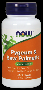Pygeum & Saw Palmetto Extract (60 Gels) NOW Foods