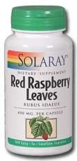 Red Raspberry Leaves (400mg, 100 capsules)* Solaray Vitamins