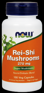 Rei-Shi Mushrooms 270 mg (100 Caps) NOW Foods