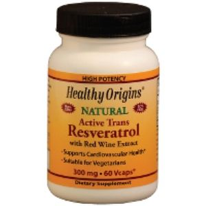 Resveratrol 300mg (60 vcaps) Healthy Origins