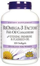 RxOmega-3 Factors w/ Evening Primrose (120 Caps)* Natural Factors