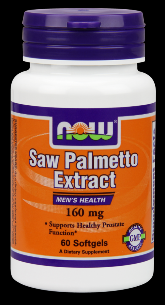 Saw Palmetto Double Strength 160 mg (60 Gels) NOW Foods