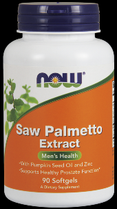 Saw Palmetto 80 mg Extract (90 Gels) NOW Foods