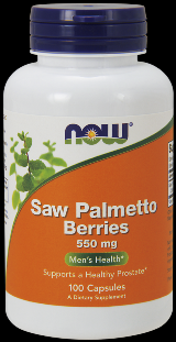 Saw Palmetto Berry 550 mg (100 Caps) NOW Foods
