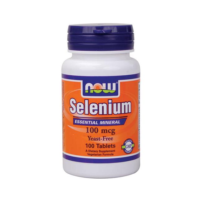 Selenium 100 mcg Yeast Free Vegetarian (100 tabs) NOW Foods