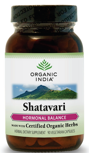 Shatavari Hormonal Balance (400 mg, 90 capsules)* Organic India