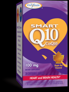 SMART Q10 - CoQ10 100 mg (Maple 30 chew tabs) Enzymatic Therapy
