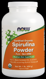 Spirulina Powder | Certified Organic (1 lb) NOW Foods
