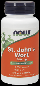 St. Johns Wort 300 mg (100 Caps) NOW Foods