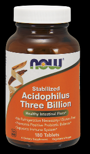 Stable Acidophilus 3 Billion (180 tablets) NOW Foods