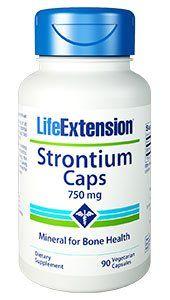 Strontium Caps 750 mg (90 Vcaps)* Life Extension