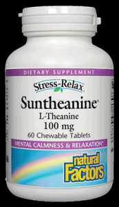 Suntheanine | 200mg L-Theanine (60 chewable tabs)* Natural Factors