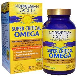 Norwegian Gold Super Critical Omega (30 fish gels) * Renew Life