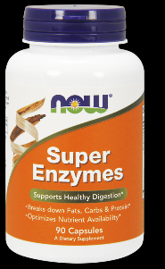 Super Enzyme Caps (90 caps) NOW Foods