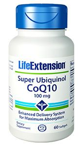 Super Ubiquinol CoQ10 100 mg (60 SGels)* Life Extension