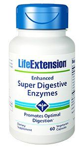 Enhanced Super Digestive Enzymes (60 vegetarian capsules)* Life Extension