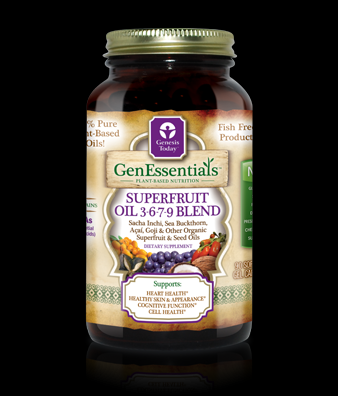 GenEssentials Superfruit Oil 3-6-7-9 Blend (180 softgels)* Genesis Today