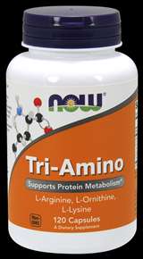 Tri-Amino (120 Caps) NOW Foods