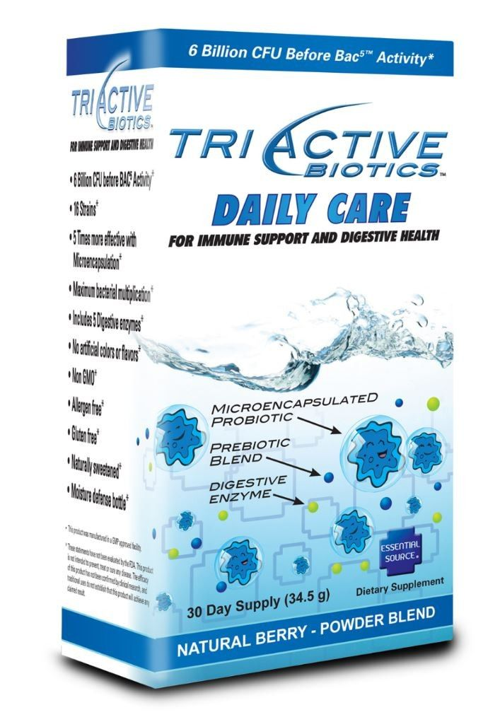 TriActive Daily Care Probiotic Powder (30 day Supply) Essential Source