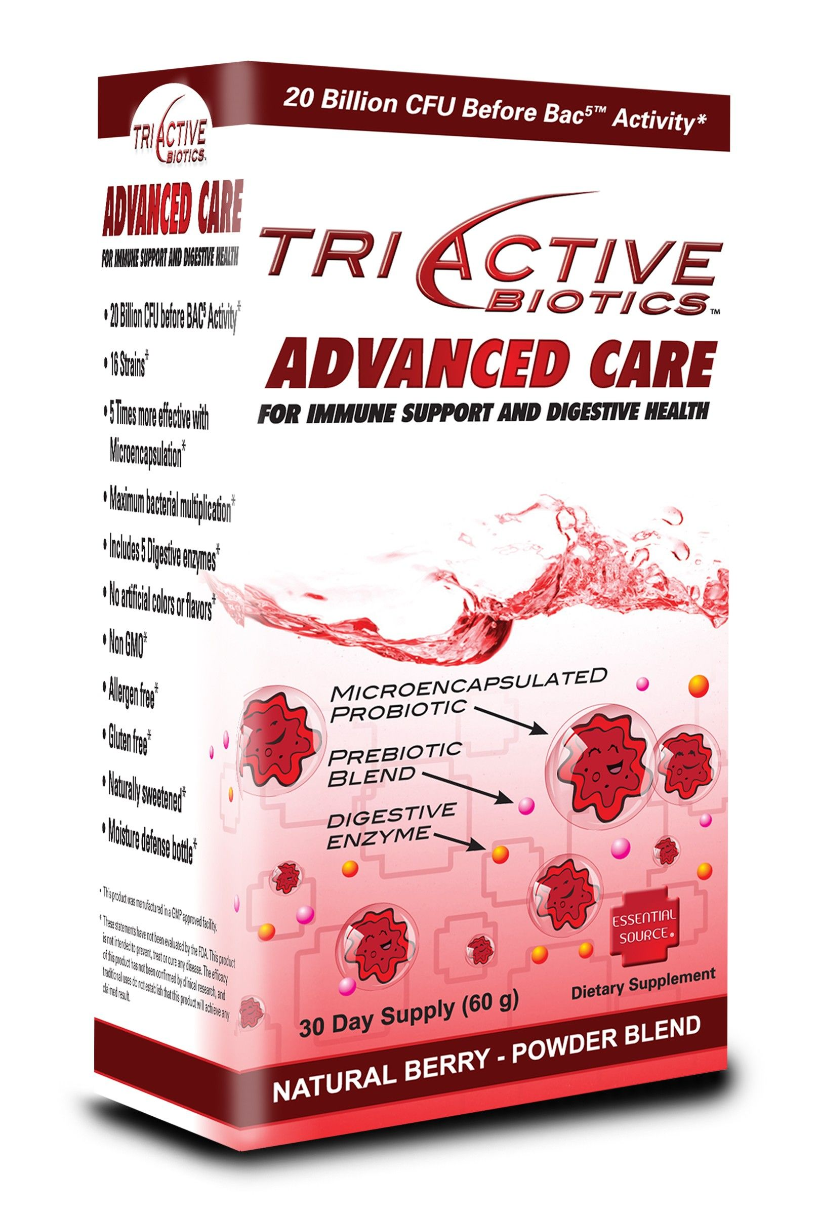 TriActive Advanced Care Probiotic Powder (80gr) Essential Source