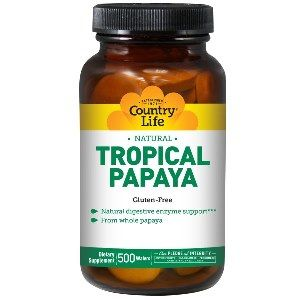 Natural Tropical Papaya (500 chewable wafers) Country Life