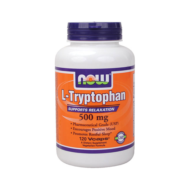 L-Tryptophan 500 mg (120 Vcaps) NOW Foods