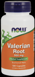 Valerian Root 500 mg (100 Caps) NOW Foods