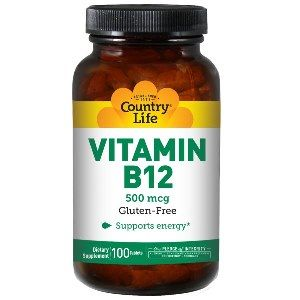 Vitamin B-12 (500 mcg 100 Tablet) Country Life