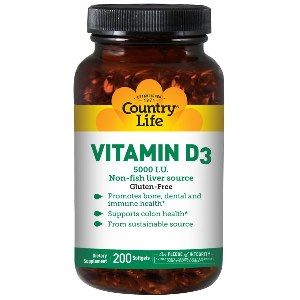 Vitamin D3 (5000 IU - 200 Softgel) Country Life