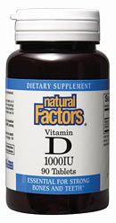 Vitamin D 1000IU (90 Tabs)* Natural Factors