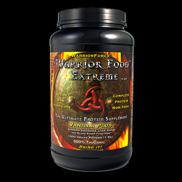 Warrior Food Extreme Ultimate Protein Supplement - Economy Size  (Vanilla 1000 g)* HealthForce Nutritionals